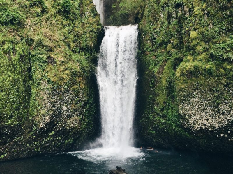 waterfalls are teachers of willingness
