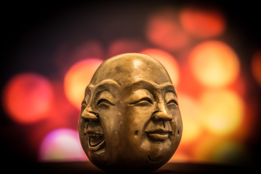 buddha with two faces